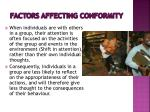 factors affecting conformity8