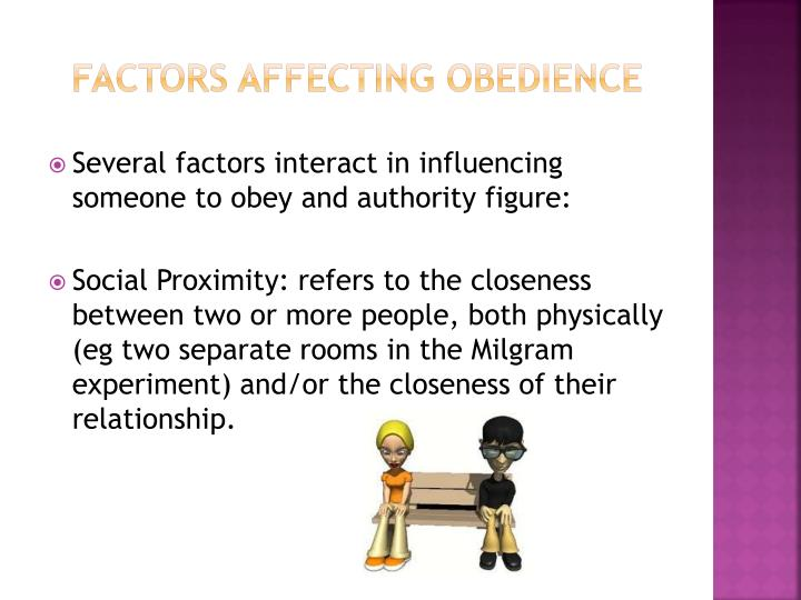 Factors affecting obedience
