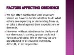 factors affecting obedience4
