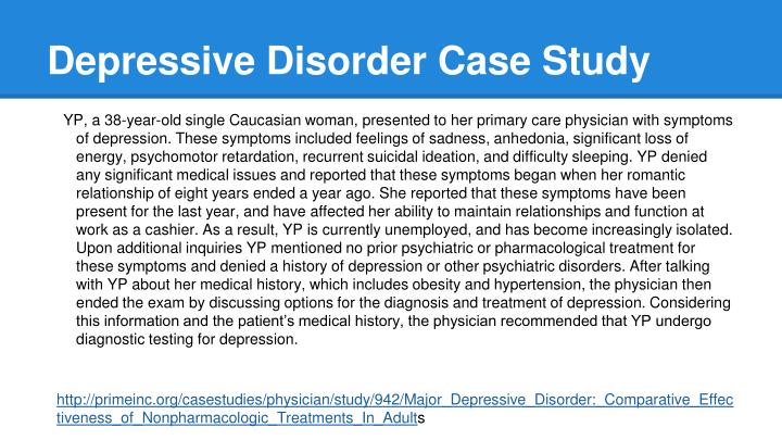 case study of depression patient