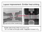 layout improvement emitter heat sinking