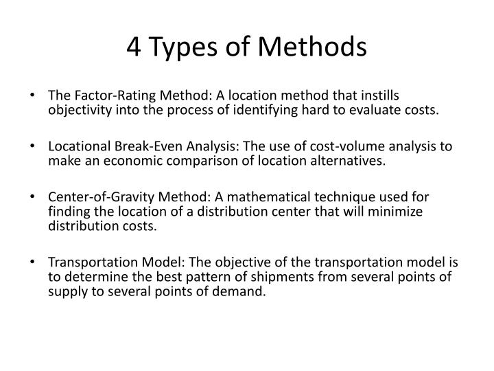 4 Types of Methods