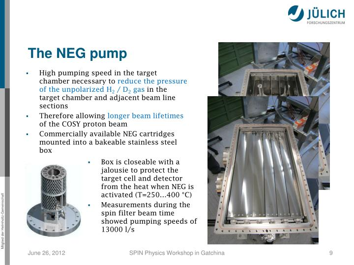 The NEG pump