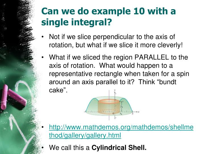 Can we do example 10 with a single integral?