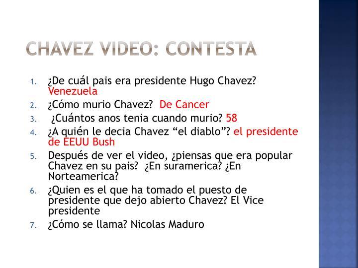 Chavez video: