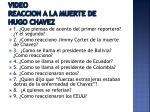 video reaccion a la muerte de hugo chavez