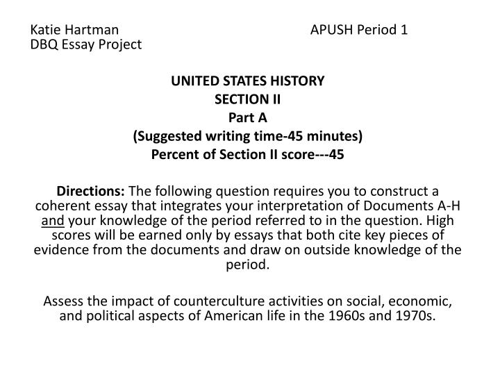 1985 apush dbq essay This video explains the redesigned july 2017 ap history document based question (dbq) rubric learn how the dbq is graded and how you can score 7 points.