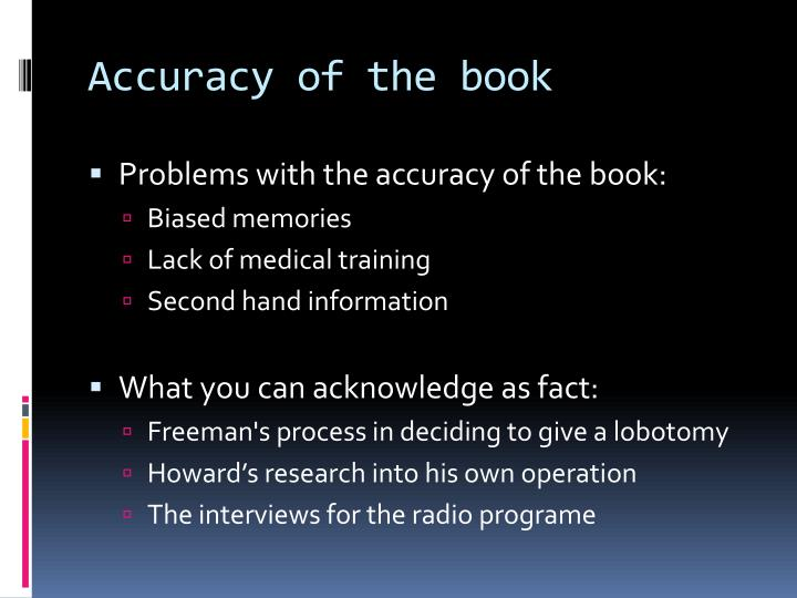 Accuracy of the book