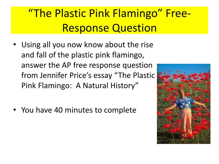 """The Plastic Pink Flamingo"" Free-Response Question"