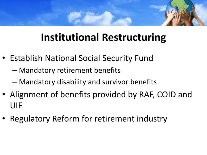 Institutional Restructuring