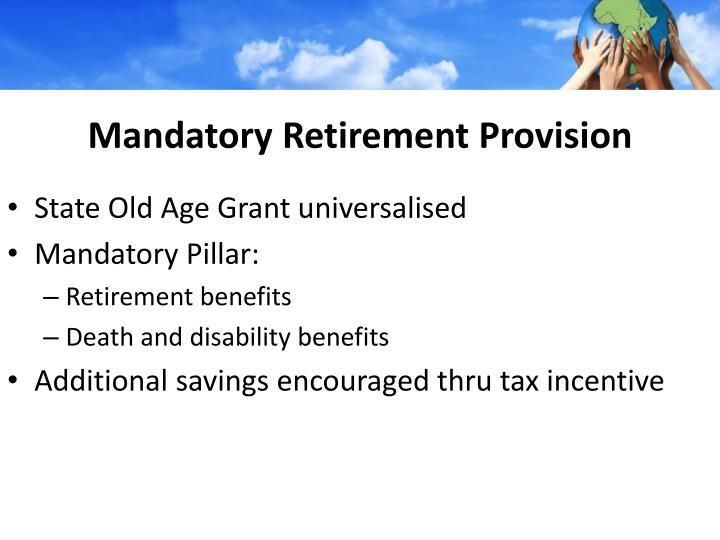 Mandatory Retirement Provision