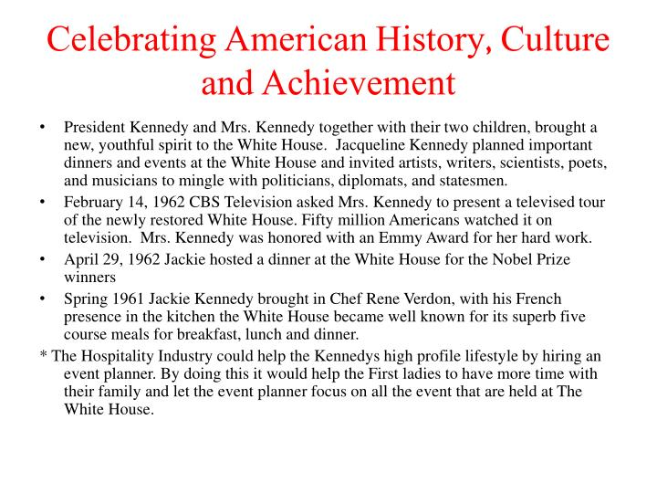 Celebrating American History, Culture and Achievement
