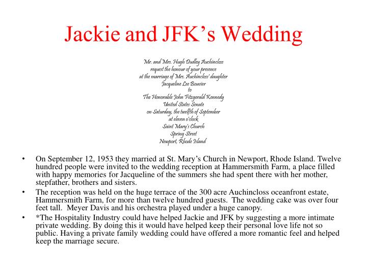 Jackie and JFK's Wedding