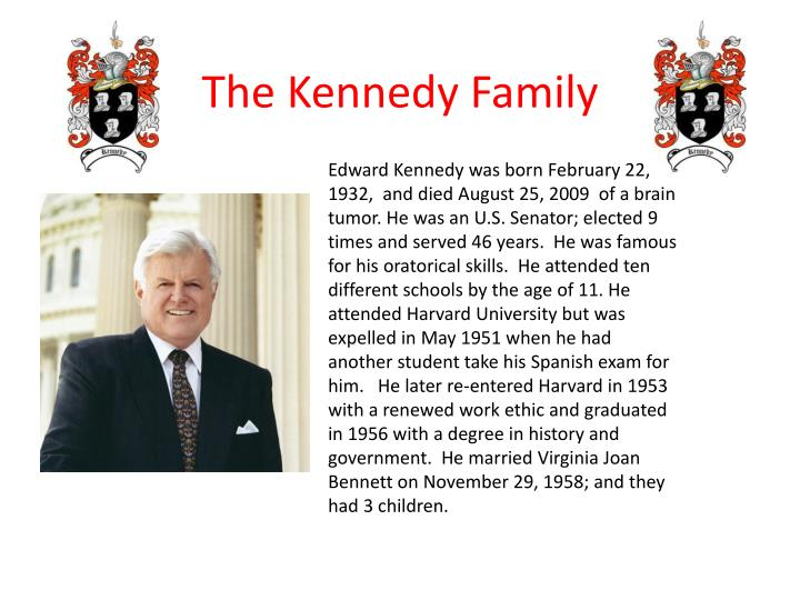 Edward Kennedy was born