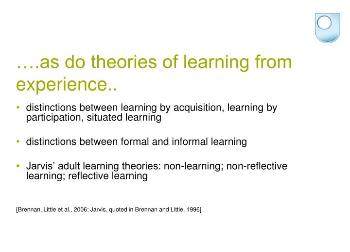 ….as do theories of learning from experience..
