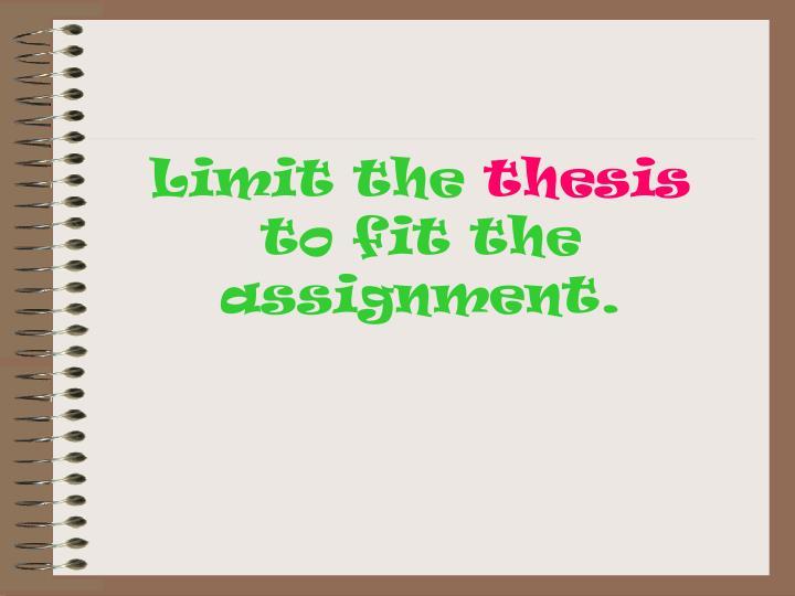 Limit the