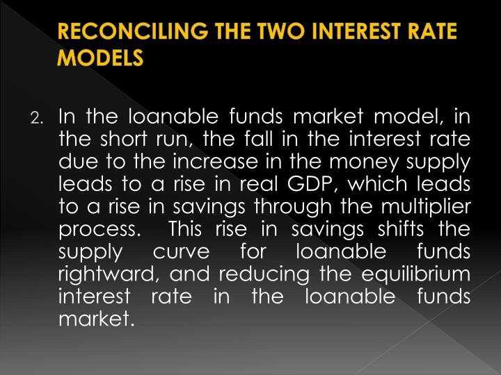 RECONCILING THE TWO INTEREST RATE MODELS