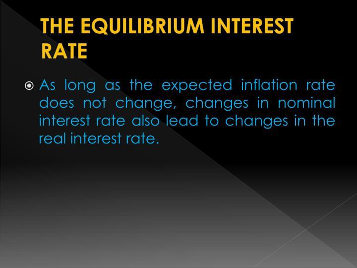 THE EQUILIBRIUM INTEREST RATE