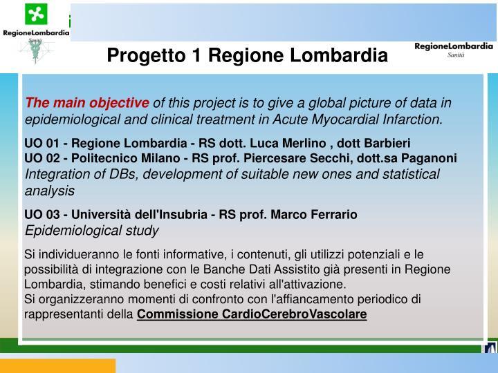 Progetto 1 Regione Lombardia