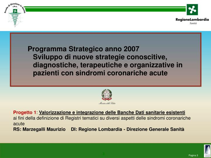Programma Strategico anno 2007