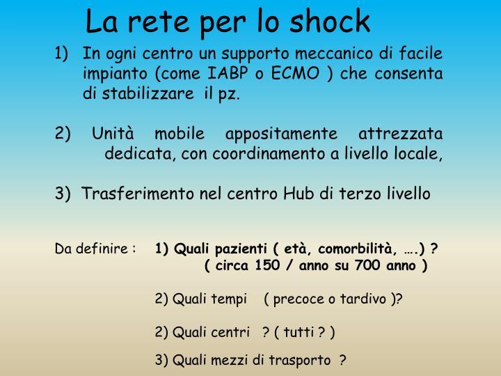 La rete per lo shock