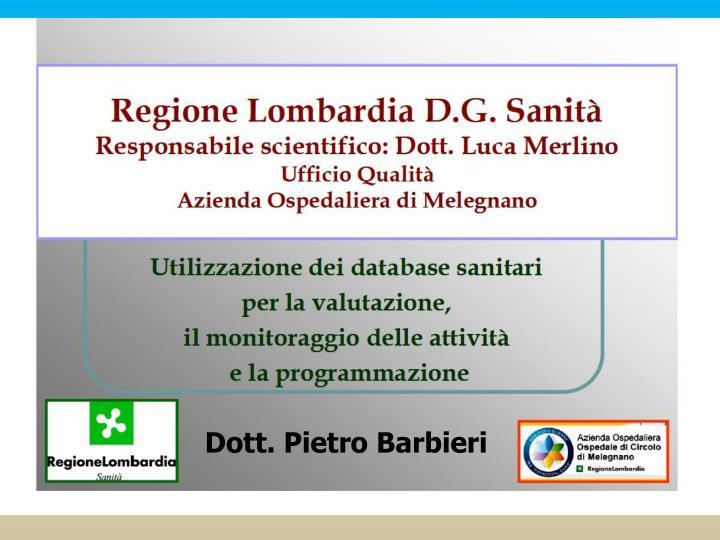 Dott. Pietro Barbieri