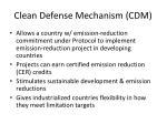 clean defense mechanism cdm