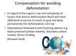 compensation for avoiding deforestation