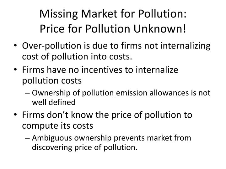 Missing Market for Pollution: