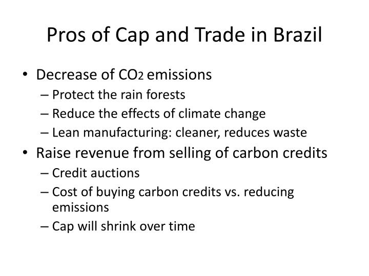 Pros of Cap and Trade in Brazil
