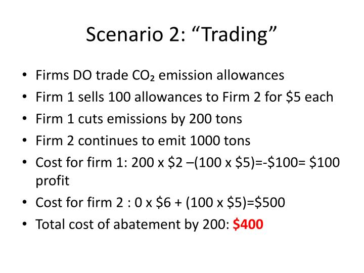 "Scenario 2: ""Trading"""
