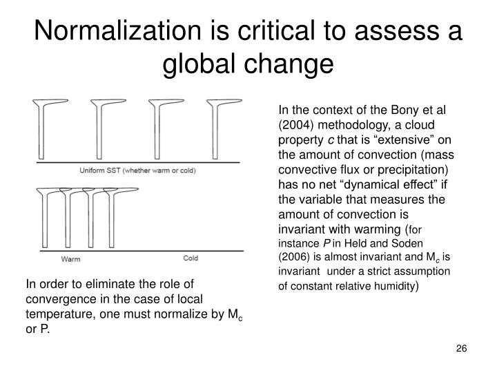 Normalization is critical to assess a global change