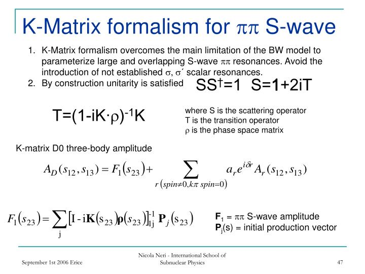 K-Matrix formalism for