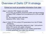 overview of dalitz cp fit strategy