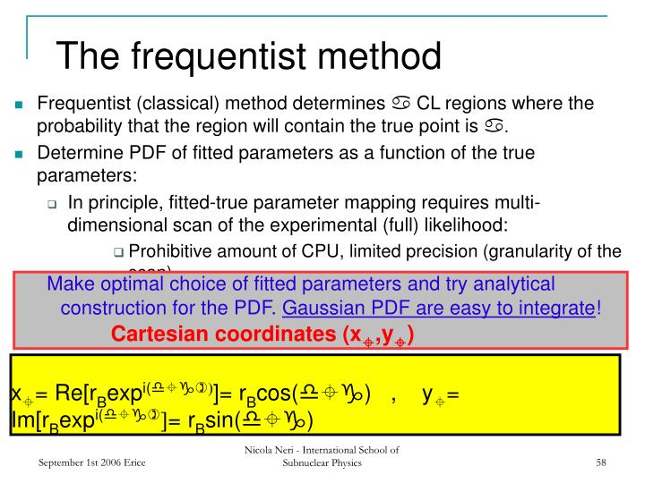 The frequentist method
