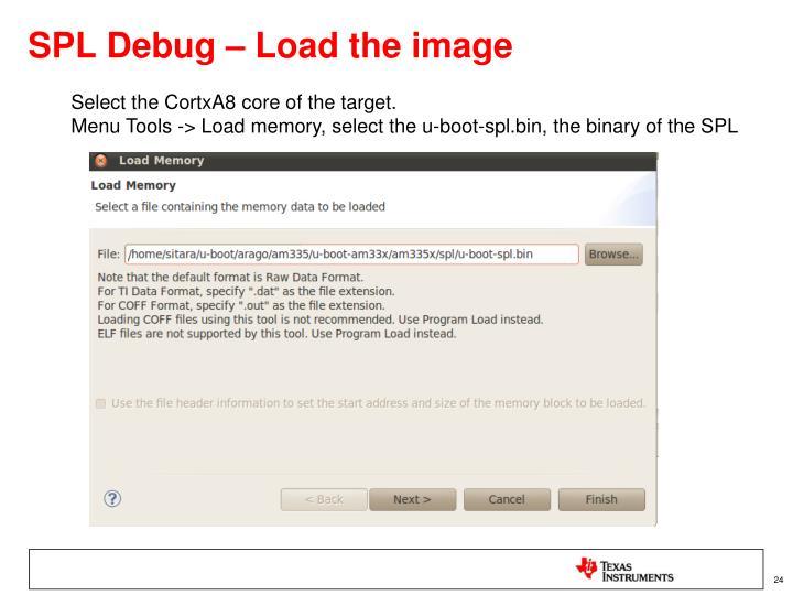SPL Debug – Load the image