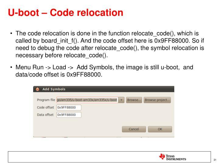 U-boot – Code relocation