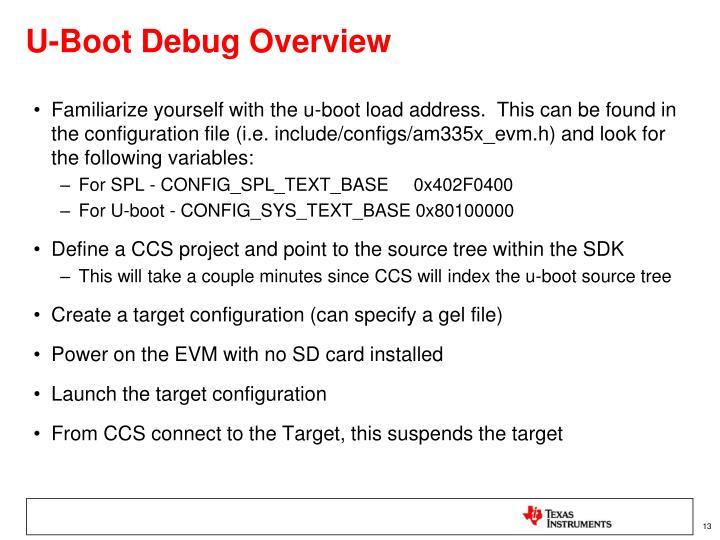 U-Boot Debug Overview
