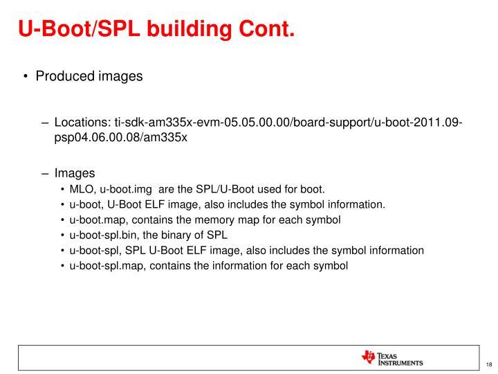 U-Boot/SPL building Cont.