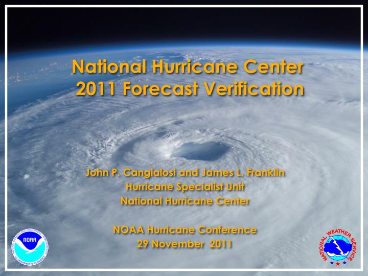 National hurricane center 2011 forecast verification