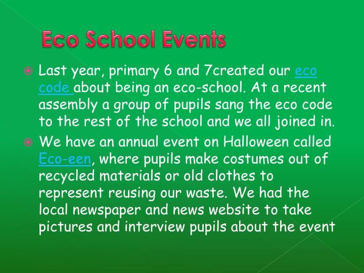 Eco School Events