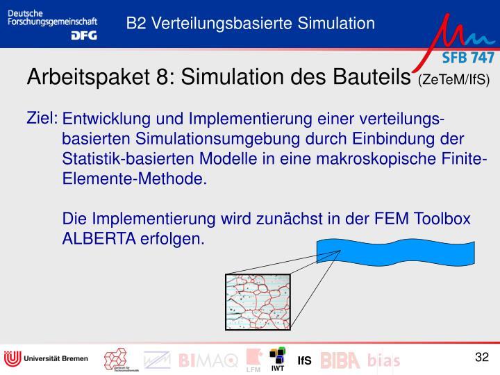 Arbeitspaket 8: Simulation des Bauteils