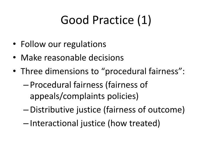 Good Practice (1)