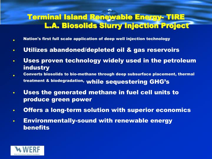 Terminal Island Renewable Energy- TIRE