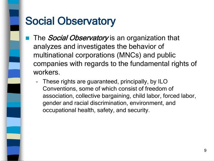 Social Observatory