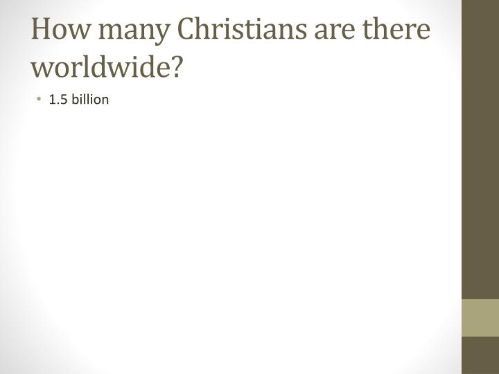 How many Christians are there worldwide?