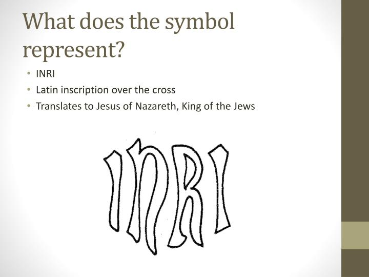 What does the symbol represent