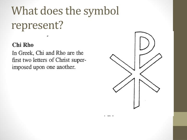 What does the symbol represent?