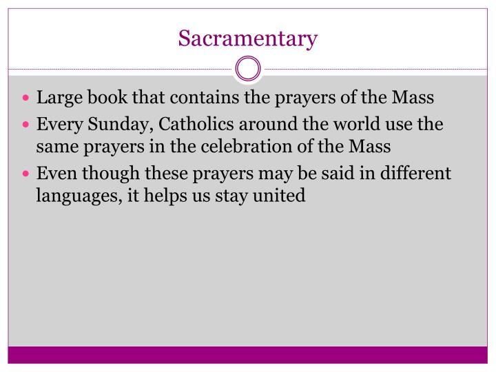 Sacramentary