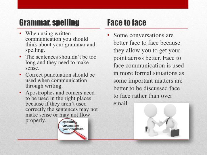 Grammar, spelling